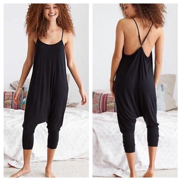 46d556de5ce aerie Pants - Aerie black harem slouchy jumpsuit